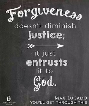 "Forgiveness & Entrusting Justice to God- Max Lucado devotional ""Anger gives ground to the devil. Bitterness invites him to occupy a space in your heart, to rent a room. Believe me, he will move in and stink up the place. Gossip, slander, temper — anytime you see these, Satan has claimed a bunk."""