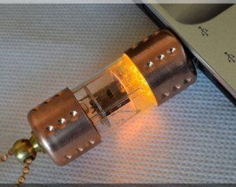 Venta de Mega - 30%!!!!!! USB Flash Drive 16GB NARANJA pentodo tubo de vacío de radio con cadena. ¡Steampunk Industrial!!!!!! ¡Soporte y envío GRATIS!!!!!!