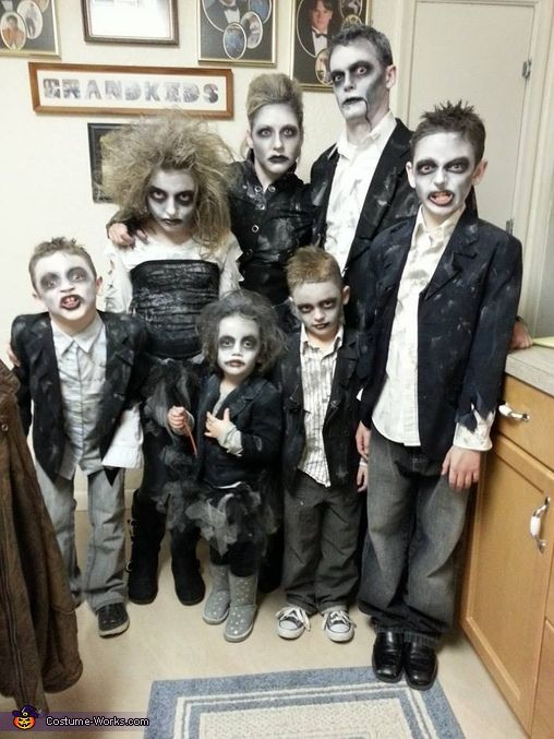 Tamra: Every year we love coordinating our family costumes, and the ideas always come from the kids. This yearthey wanted to be the Zombie Family. I have to say I wasn't...