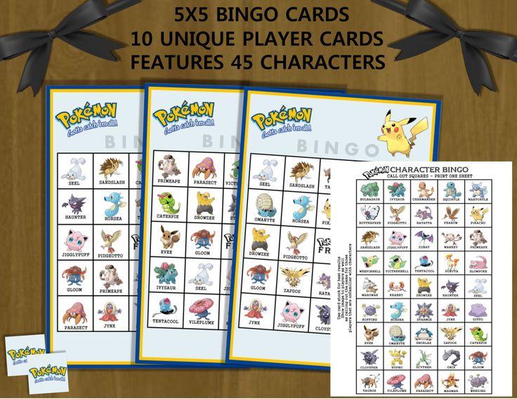 Pokmon GO PokBingo Free Printable Bingo Game T