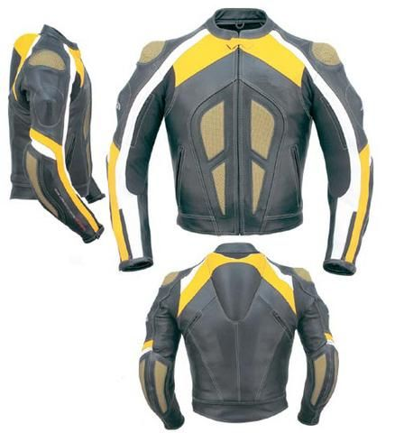 Yellow and grey motorycle jacket with armor protection