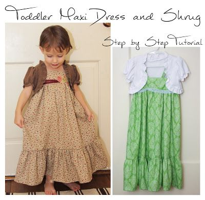 Cat on a Limb: Toddler Maxi Dress and Shrug - Part 1 of 4 - Drafting the Dress Pattern