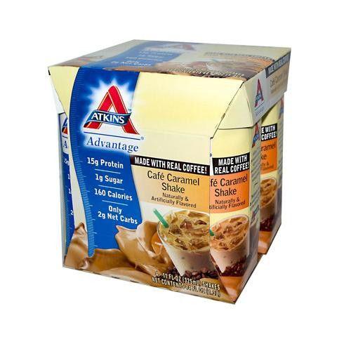 Atkins Advantage Rtd Shake Cafe Caramel - 11 Fl Oz Each - Pack Of 4