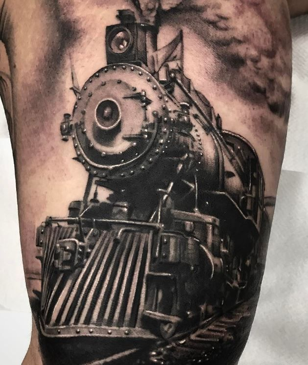 25 best ideas about train tattoo on pinterest american traditional tattoo sleves and. Black Bedroom Furniture Sets. Home Design Ideas