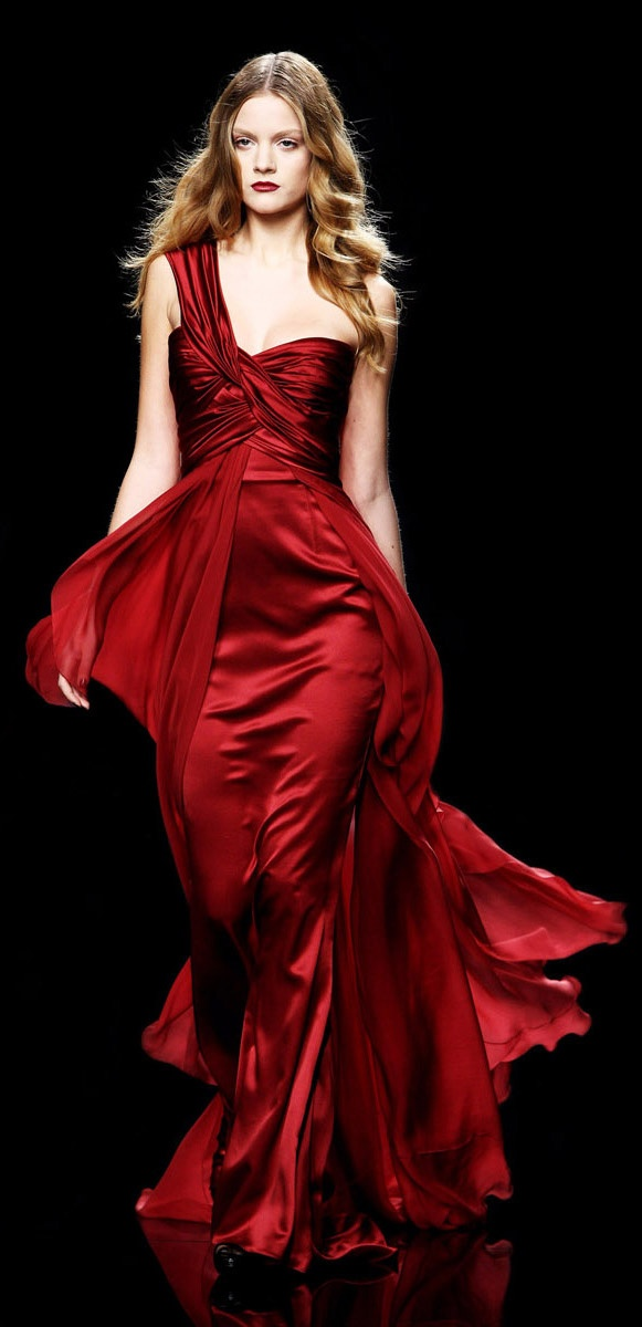 Red long evening dresses zuhair murad