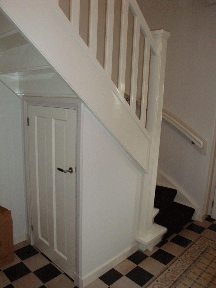Meer dan 1000 idee n over schappen onder trap op pinterest onder de trap het bouwen van - Hoe dicht een open keuken ...