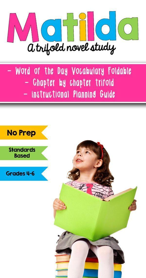 Matilda literature guide novel study bibliotherapy | tpt.