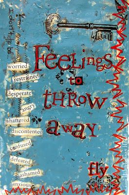 Mixed media art journal page. Using the things that you have on hand to make art plus getting rid of things that get in the way. #artjournal #rubons #usedbooks @createmixedmedia
