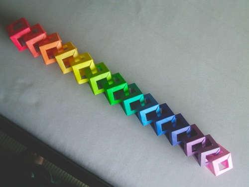 Open cube modular origami.  Fun!