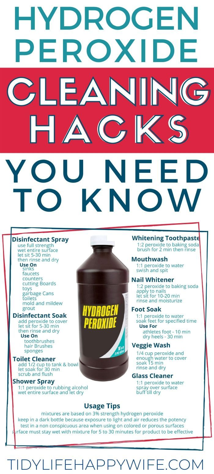 21 Useful Hydrogen Peroxide Hacks To Help You Clean In 2020 Cleaning With Hydrogen Peroxide Homemade Cleaning Solutions Cleaning Hacks