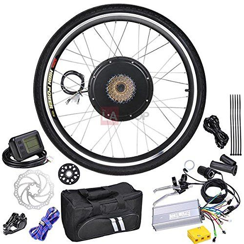 48 Volt 1000 Watt 26 Inch Electric Bicycle Conversion Motor Kit LCD Rear Wheel
