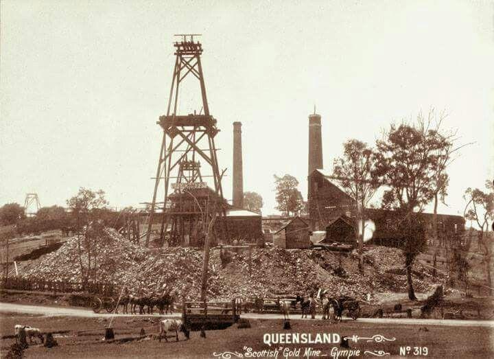 """""""Scottish"""" Gold Mine in Gympie,Queensland (year unknown)."""