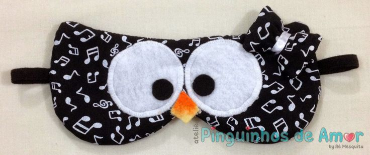Ateliê Pinguinhos de Amor: Tapa Olho Corujinha