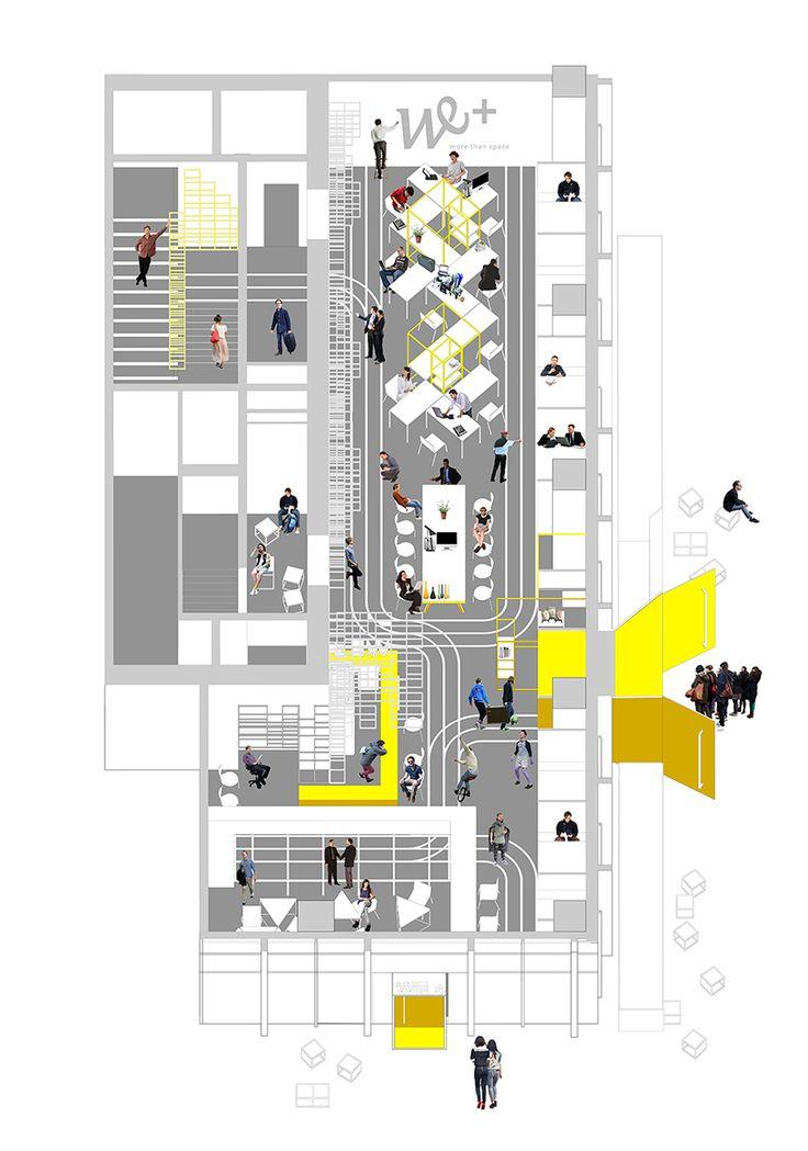 1384 best modern office architecture interior design for Corporate office design plan