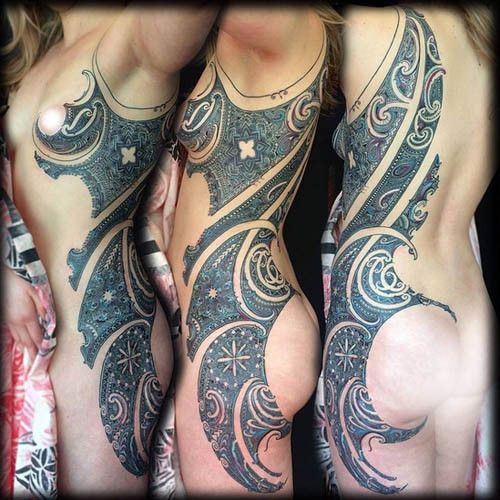 Tatto Body Inside Tattoo Ideas By Kerry Mitchell: 366 Best Female Side Pieces Images On Pinterest