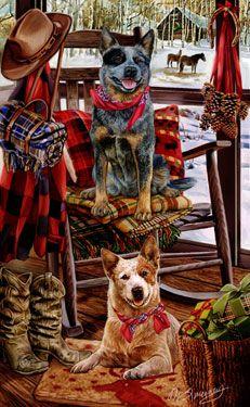 Australian Cattle Dog - Christmas Companions