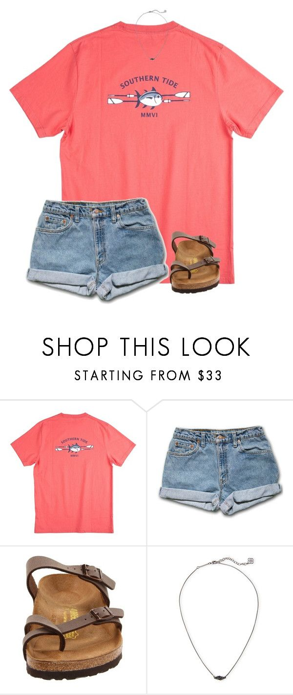 """""""•southern tide•"""" by southernprep3 ❤ liked on Polyvore featuring Southern Tide, Birkenstock and Kendra Scott"""