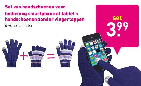 Omdat smartphones en handschoenen geen ideale combinatie is. Met deze speciale handschoenen kan je gewoon typen! Te koop bij de Xenos. Bekijk de folder op Reclamefolder.nl.