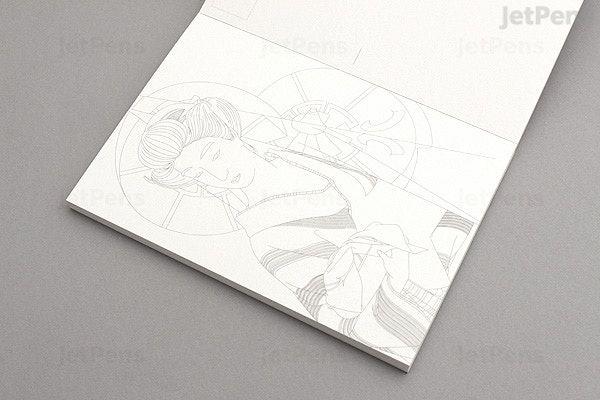 Pepin Postcard Coloring Book Japanese Designs Pepin 96068 Japanese Design Coloring Books Jet Pens