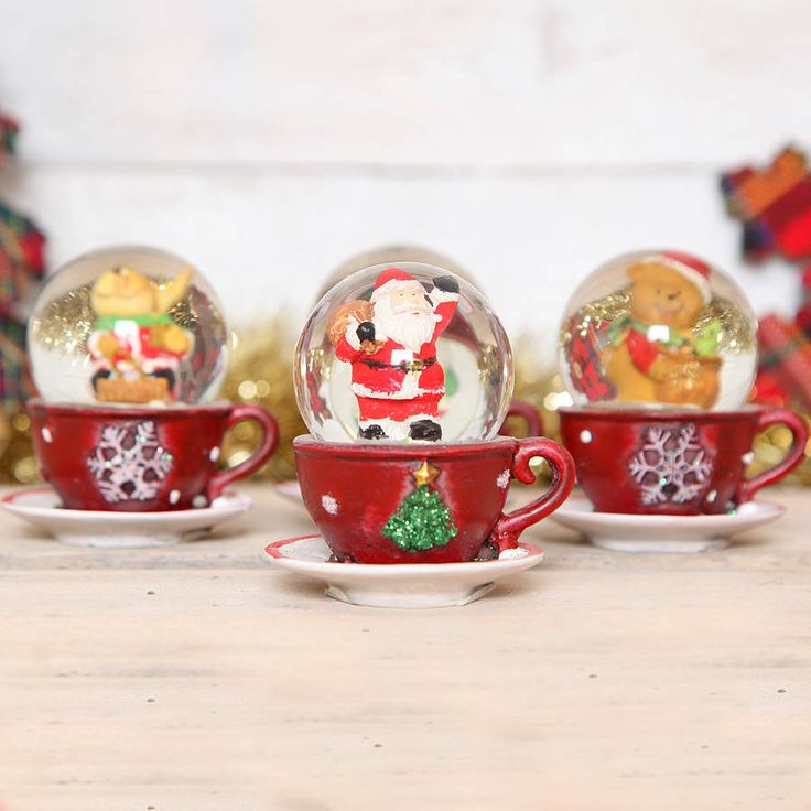 christmas mini snow globes by red berry apple | notonthehighstreet.com