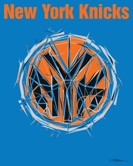 New York Knicks fine art print and canvas design from rareink.com. Browse this piece and the rest of our NBA collection