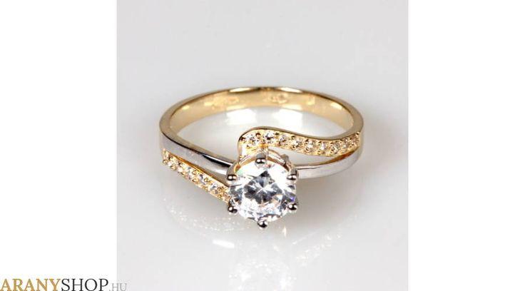 14 karátos arany eljegyzési gyűrű - Gyűrűk