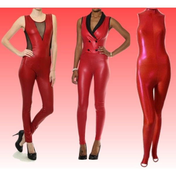 """red bodysuits"" by primadnd on Polyvore"