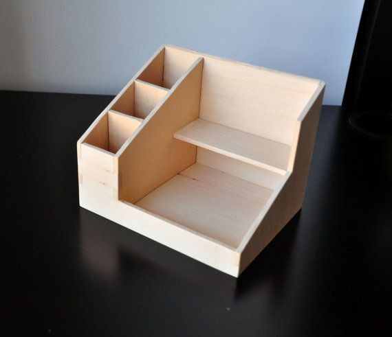 Small customizable handmade wood cosmetic organizer | makeup organizer by ecopico