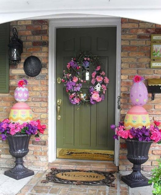 Diy Spring Decor: Best 25+ Outdoor Easter Decorations Ideas On Pinterest
