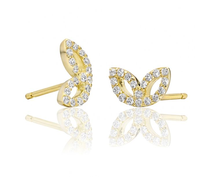 Beautiful leaves of 18 carat yellow gold and white diamonds sparkle with this pair of stunning earrings from our Lief Enchanted fine jewellery collection.