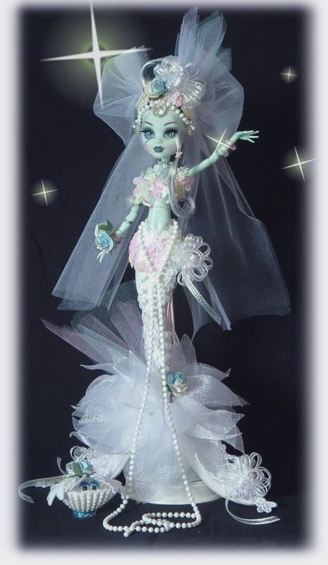 Custom MONSTER HIGH ART DOLL** MERMAID QUEEN** by CINDY