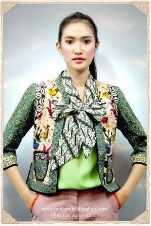 batik amarillis's preppy girl-torera jacket