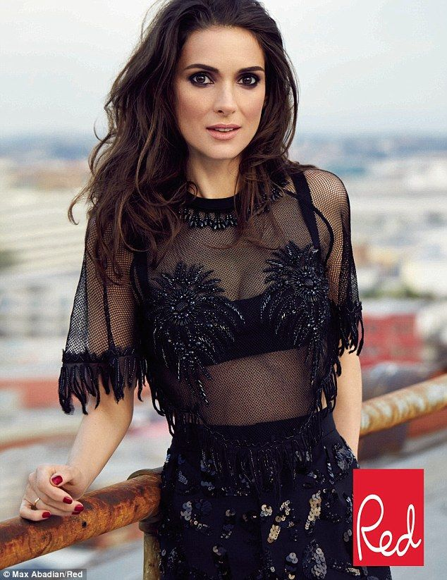 'It's beautiful': Winona Ryder, pictured in the forthcoming edition of Red magazine, believes people should look to the Native Americans for...