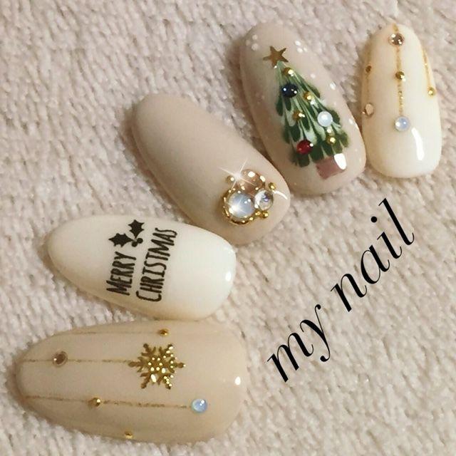 Christmas nail design. @ Yamasaki♥