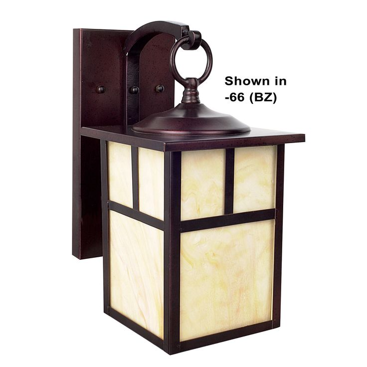 Features:  -Wall Sconce.  -1 Light.  -Glass: Honey.  -Install position: Downward.  -Safety rating: UL/cUL listed.  -Mission collection.  Finish: -Rubbed Bronze.  Fixture Material: -Aluminum.  Hardware