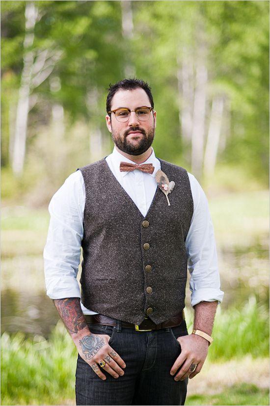vintage style groom looks