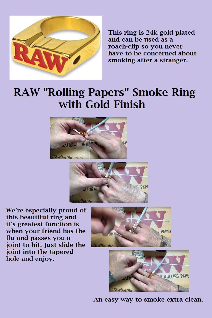 Can You Get High From Smoking Paper Raw Rolling Papers Smoke Ring With 22k Gold Plated Finish Rolling Paper Raw Smoke