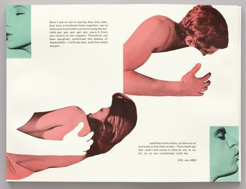 John Baldessari - Pages from John Baldessari's photo-collages for the limited edition of Tristram Shandy, published in 1988