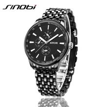 New Sinobi Dress Quartz Business Sports Watches Men Military Full Steel Casual WristWatch Waterproof Relojes hombre(China (Mainland))