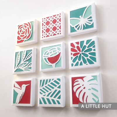 Original Die Cut Merchandise at ALittleHut.com Spring paper quilt collection