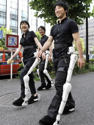 "Very useful robot suit ""HAL"" by CYBERDYNE Inc.   MADE IN JAPAN http://www.cyberdyne.jp/english/index.html"