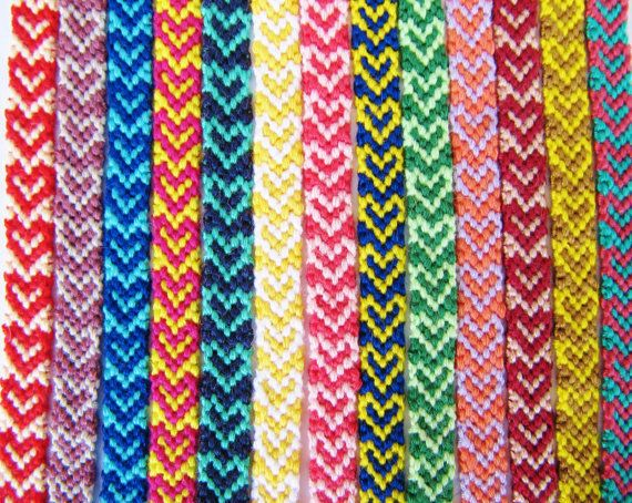 Heart Friendship Bracelets Boho Bracelets Knotted
