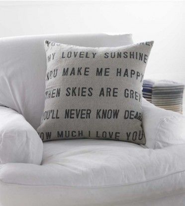 'You Are My Sunshine' Pillow: Pillows Covers, Sunshine Pillows, Houses, Crafts Ideas, Linens Pillows, Songs, Stencil Pillows, Diy, Happy Cushions