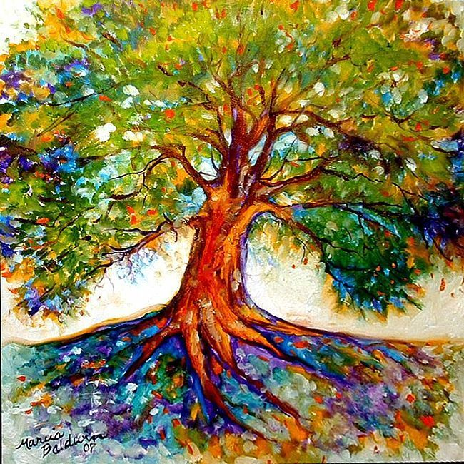 oil painting tree of life - Google Search