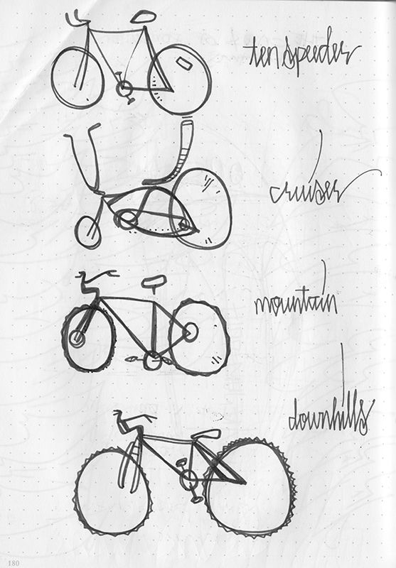 17 best images about bike on pinterest fixed gear girl for Fun things to draw for girls