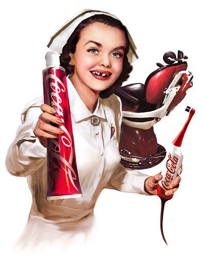 Wyżarte ząbki, sponsoruje Coca-cola :)