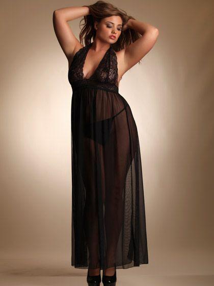Lauren Shaw. Hips and Curves Mesh Gown | Linger Longer ...