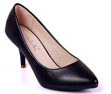 Hot Sales Full Season Daily Women Pumps  7cm High Heels Genuine Leather Classic…