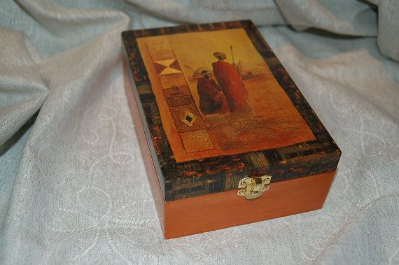 Tea box with african style