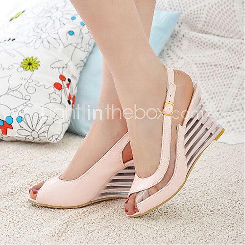 여자의 쐐기 발 뒤꿈치 우는 소리 발가락 슬링 백 샌들 신발 (추가 색상) | LightInTheBox